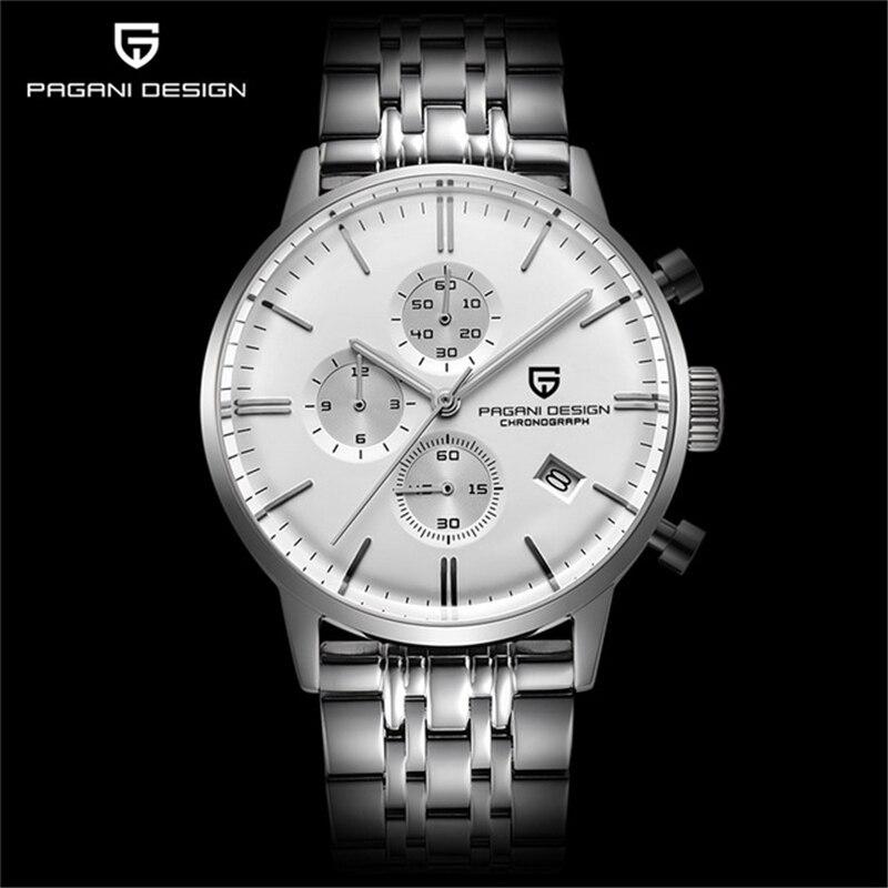 2019 Mens Watches Top Brand Luxury Pagani Business Stainless Steel Quartz Watch Men Sport Waterproof Clock Relogio Masculino