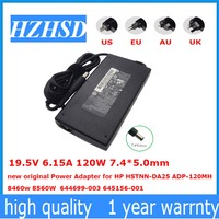 19.5V 6.15A 120W 7.4*5.0mm new original Power Adapter for HP HSTNN DA25 ADP 120MH 8460w 8560W 644699 003 645156 001