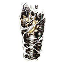 Free Shipping New Fashion Man 3D Tattoo Robot Arm Tattoo Stickers Waterproof Temporary Tattoo Stickers