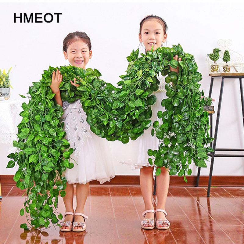 Creeper Hanging-Garland Artificial-Flowers Ivy Vine Green Leaf Wedding-Decora Home