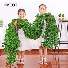 200CM yapay bitkiler sarmaşık yeşil yaprak sarmaşık asma ev düğün dekor için toptan DIY asılı çelenk yapay çiçekler