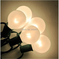 10X G40 Outdoor Patio String Lights Set 7 5Meter With 25 G40 Frosted White Bulbs Xmas