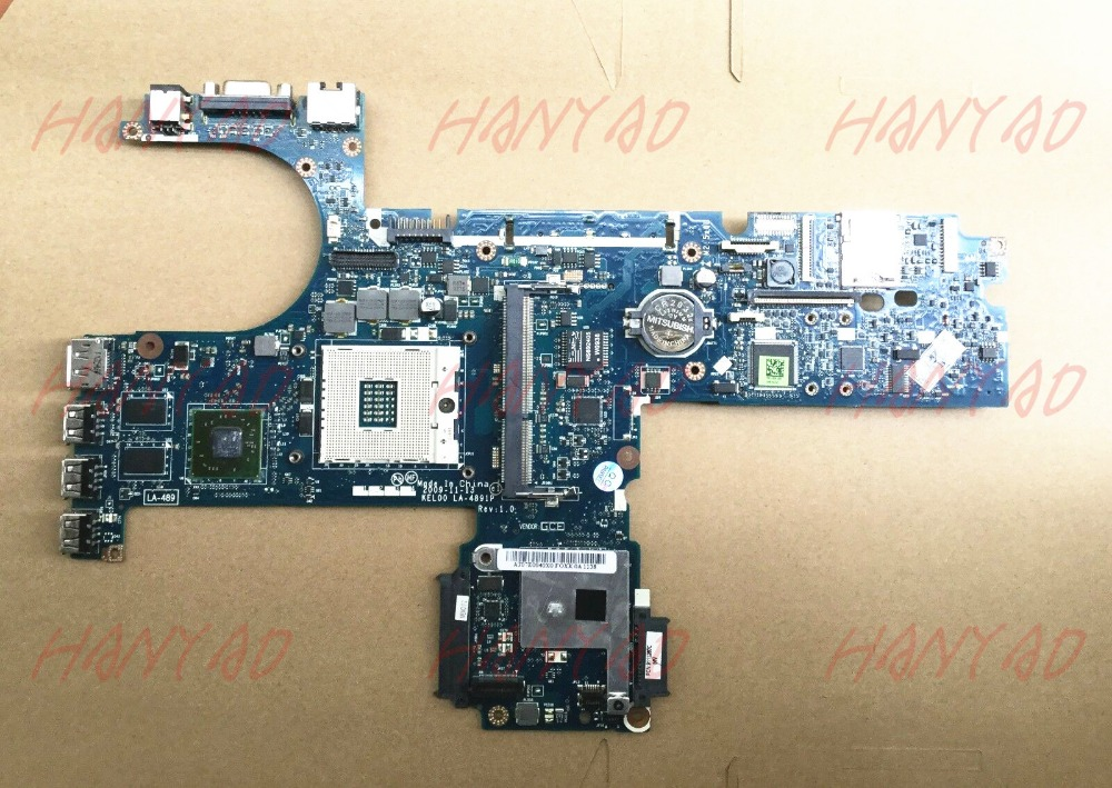 for hp probook 6440b 6540b laptop motherboard 593839 001 ddr3 la 4891 Free Shipping 100 test ok in Laptop Motherboard from Computer Office