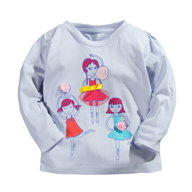 1-5Y Spring Autumn Baby Boys Girls T-shirts 100% Cotton Kids Tees Boy Girl Long Sleeve T shirt Children Pullover Tops Clothing