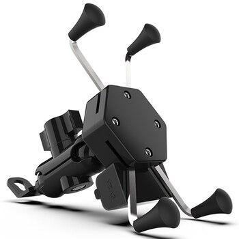Universal 360 Degree Adjustable Cell Phone Holder Motorcycle Bike Bicycle Mirror Usb Charging Bracket Bicycle Moto Handle Grip