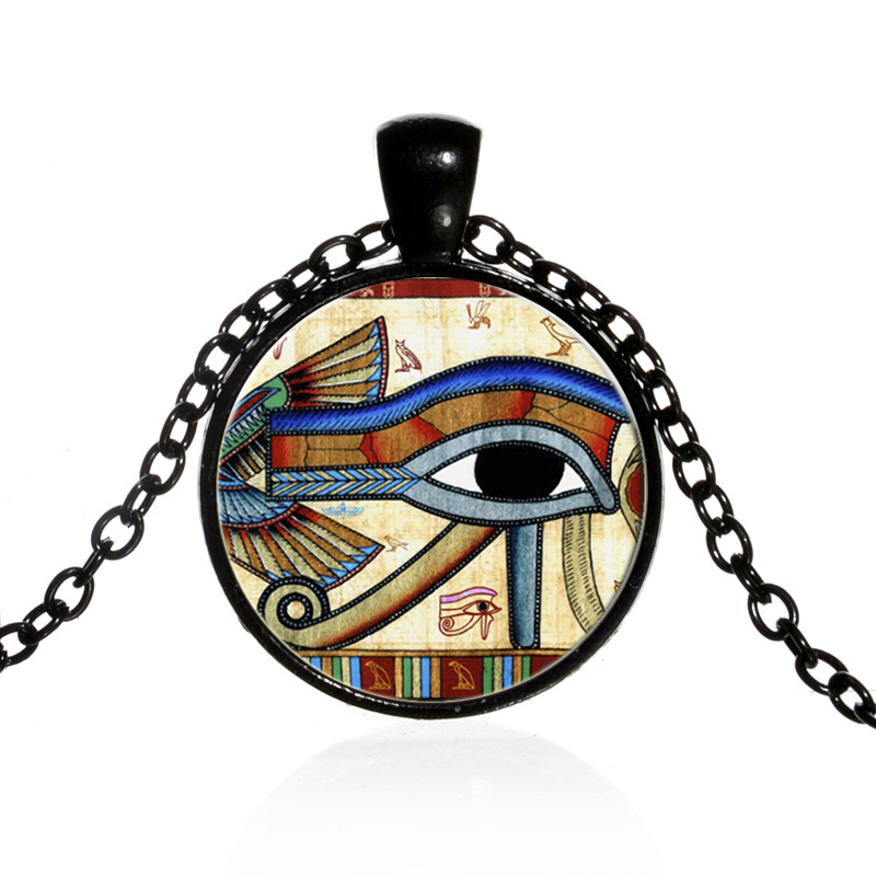 Classic Vintage Egyptian The Eye of Horus Necklace Round ...