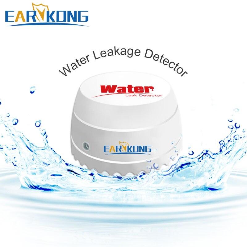 Güvenlik ve Koruma'ten Sensör ve Dedektör'de 433MHz kablosuz su kaçak dedektörü ev güvenlik Wifi/GSM Alarm sistemi su sensörü alarmı saldırı dedektörü title=