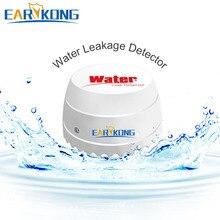 Detector de vazamento de água sem fio, 433mhz para segurança residencial wi fi/gsm sistema de alarme, sensor de água, detector de intrusão
