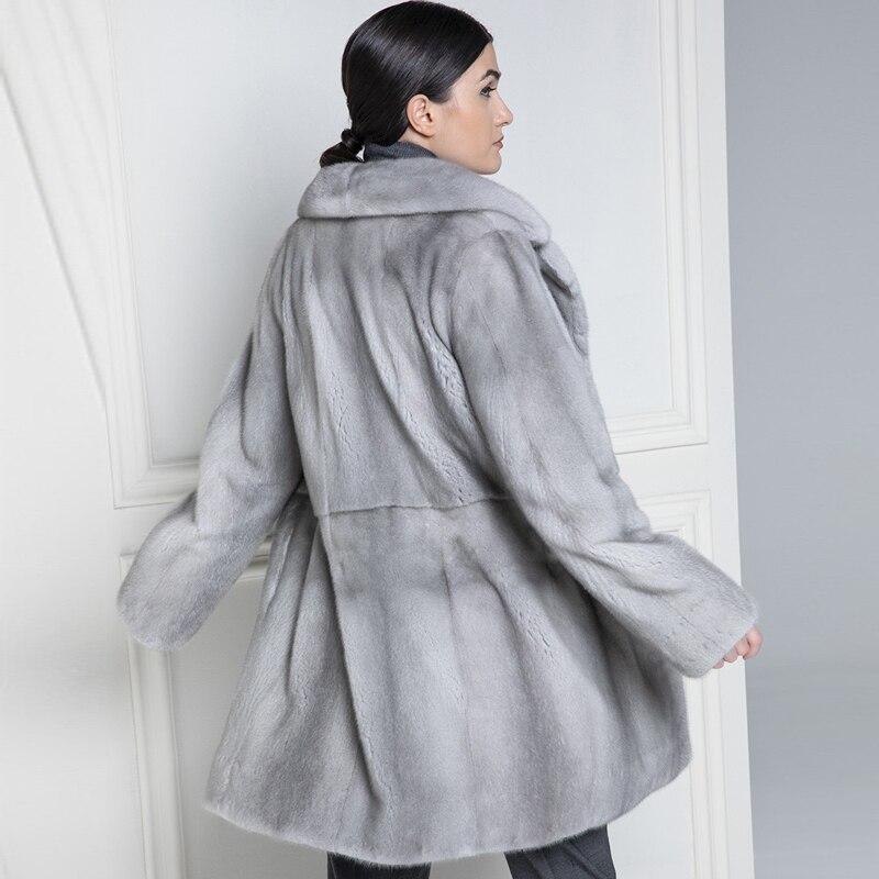 Taille Femmes Vestes Mode Manteaux Fourrure Imported Sapphire Avec Hauts Pour De down Collar Mince Vison Réel 2019 Wholeskin Grande Les Turn qzBPPT