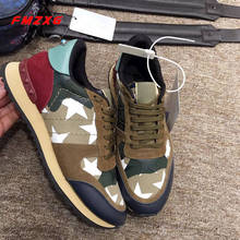 Couple Sneakers denim Flats Platform Shoes Super High Quality Fashion Mesh Rivet Spring Autumn Camouflage Print Women Brand Shoe