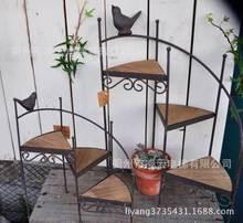 French country decor bird spiral staircase gardening grocery zakka small flower garden decoration torus