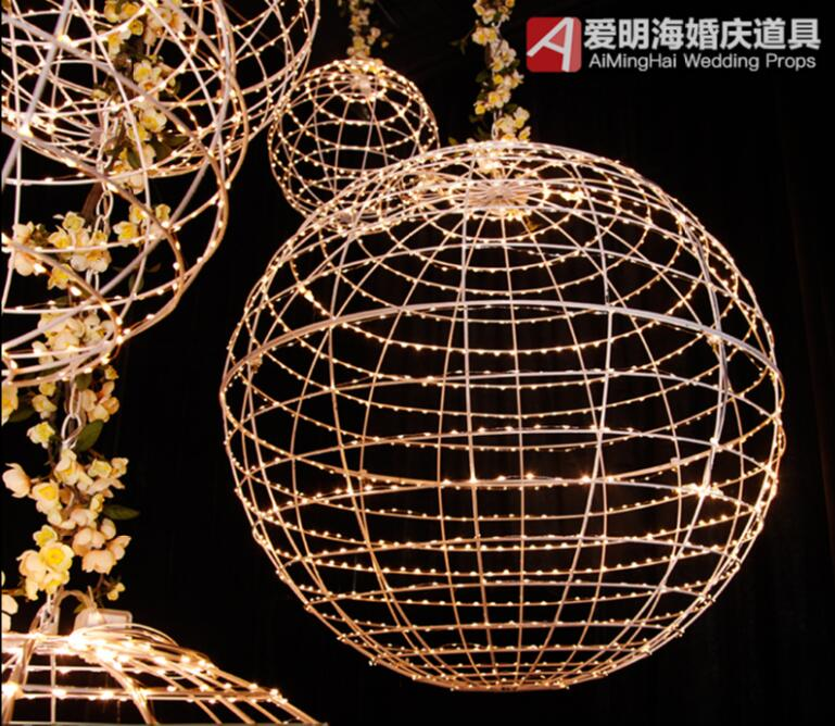 Wedding props new Mars ball chandelier star scene wedding decoration window decoration ceiling full of stars in Party DIY Decorations from Home Garden