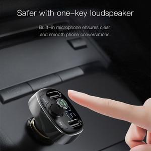 Image 2 - Baseus Lcd scherm Fm zender Autolader Dual Usb Telefoon Oplader Handsfree Bluetooth MP3 Speler, geboren Te Luisteren Muziek In Auto
