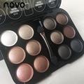 12 cores profissional maquiagem sombra paleta naked shimmer paleta da sombra de olho maquiagem beleza paleta de sombras mate
