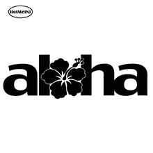 Car Sticker 18cm  flower hawaii hawaiian Funny  car head cartoon words car body Vinyl Creative sticker Black/Silver exc13 color