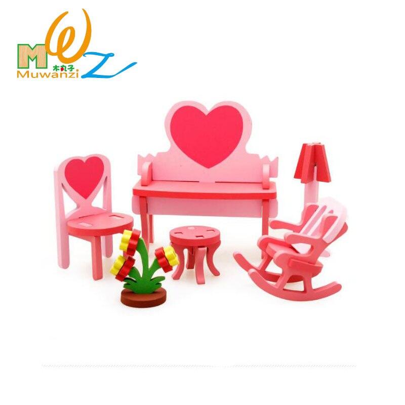 Acheter MWZ En Bois Miniature Dollhouse