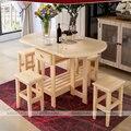 Массива сосны полутвердая наклейки-круг раза - rx-состоянии кофе обеденный стол с четырьмя стульями ( без ящики ) простой мода многоцелевой стол