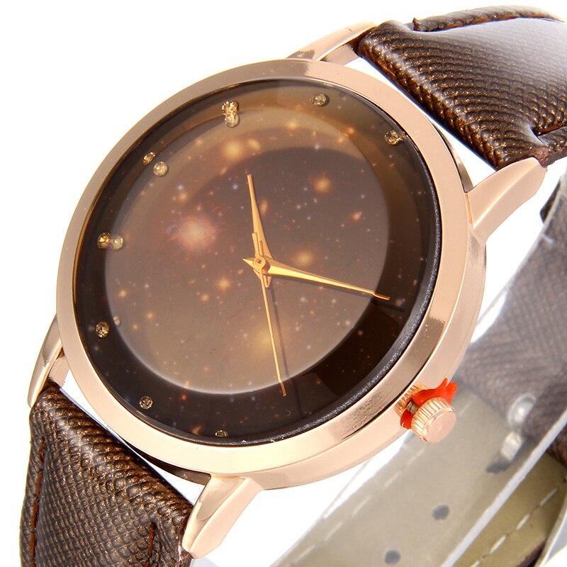 New Arrive Fashion Watch Moon Photo Unisex Watch Women Men;s Watches Starry Sky Space Birthday Gift Relogio Masculino Clock Watches