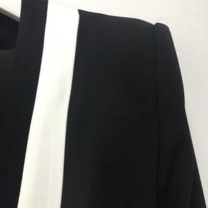 Image 5 - HIGH STREET New Fashion 2020 Designer Blazer Womens Classic Black White Color Block Metal Buttons Blazer Jacket Outer Wear