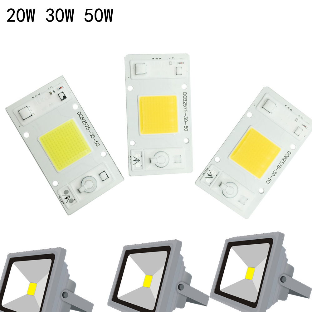 2018 NEW LED COB Chip No Need Driver 50W 30W 20W 230V 220V Input High Lumens Chip For DIY LED Floodlight Spotlight light beads