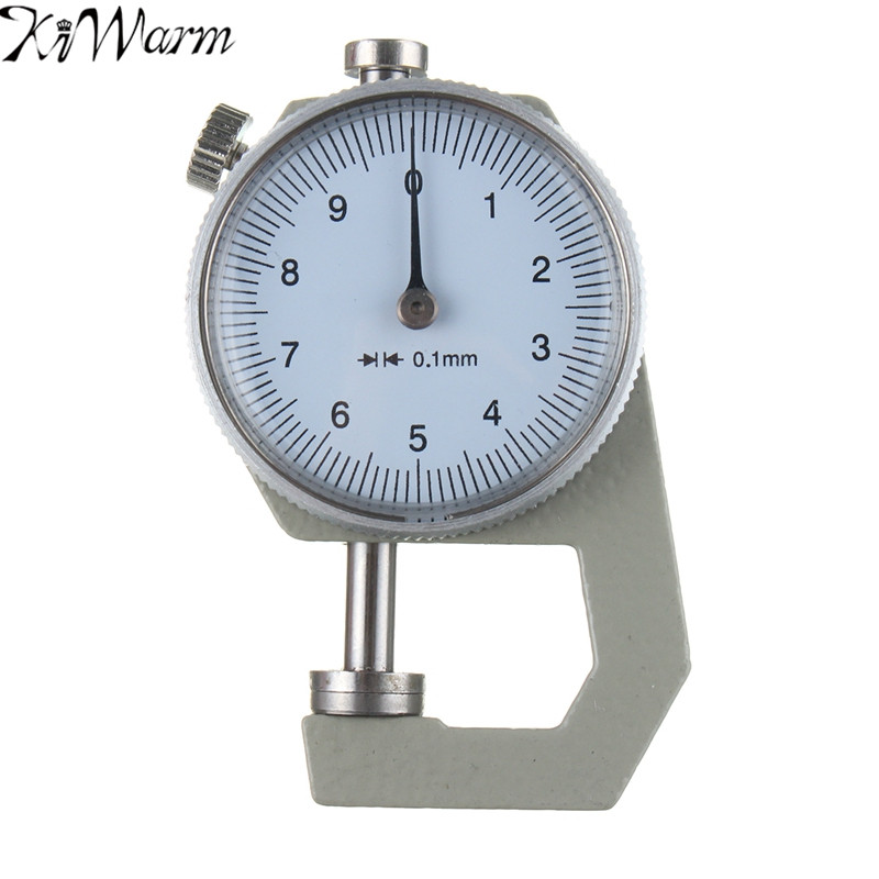 KIWarm Leathercraft Tools Thickness Gauge Tester Measure Leather Craft Tool 0-10mm Accuracy 0.1mm Handmade Leather Crafts Tools