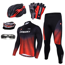 Cycling Jersey Set Men Summer Pro Team 2019 Mountain Bike Clothing Mtb Wear Bicycle Clothes Quick Dry Long Sleeve Cycling Sets quick dry cycling jersey sets breathable sponge pad anti sweat mtb dh road mountain bicycle bike men cycling sets