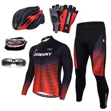 Cycling Jersey Set Men Summer Pro Team 2019 Mountain Bike Clothing Mtb Wear Bicycle Clothes Quick Dry Long Sleeve Cycling Sets цена в Москве и Питере
