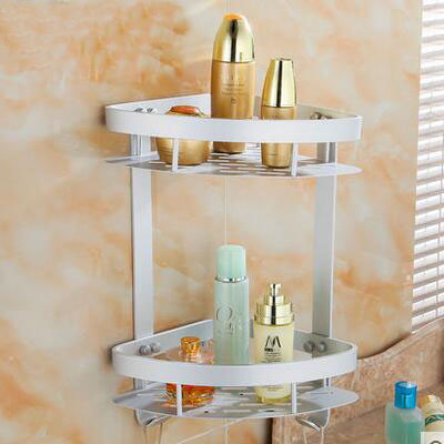 1/2 Tier Bathroom Shelf Triangle/square Storage Rack Shelf, Space Aluminum Bathroom  Shelves Racks Wall Mounted, Free Shipping In Bathroom Shelves From Home ...