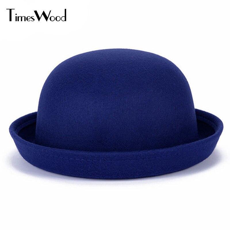 69146f54c37 Fashion Vintage Women Fedoras Dome Hat Roll Brim Bowler Derby Hat Headwear  Light tan