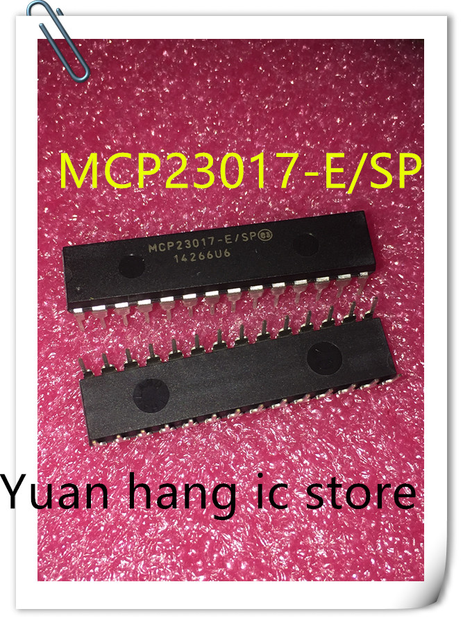 10PCS/LOT MCP23017-E/SP MCP23017 DIP-28  16-Bit I/O Expander With I2C Interface IC NEW