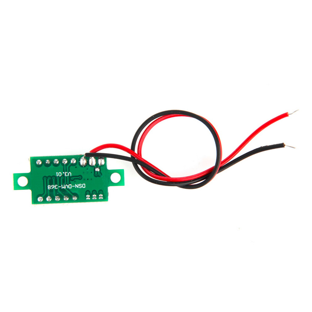 2017 nový digitální LCD voltmetr voltmetr voltimetro červená LED - Měřicí přístroje - Fotografie 4