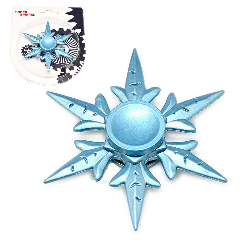 New Snowflake Fidget Spinner Metal Hand Finger Spinner Anti-Stress Wheel Fidget Toys Top Autism Focus Widget Kid Gift