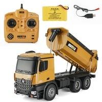 Huina 573 RTR 2,4 ГГц 10 каналов 1:14 пульт дистанционного управления RC грузовик самосвал саморазрядка Металл Авто демонстрация светодиодный свет RC и