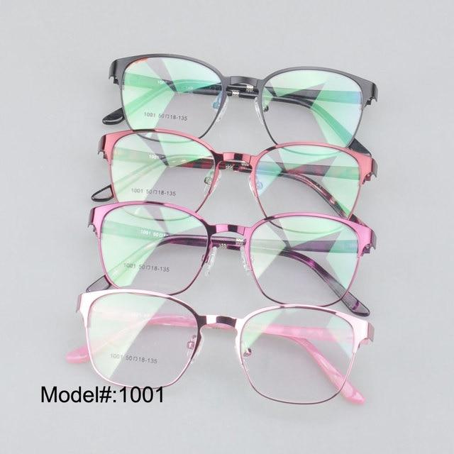 MX1001 Full rim metal  women's spectacle frameswith ultem temples myopia eyewear prescription spectacles glasses
