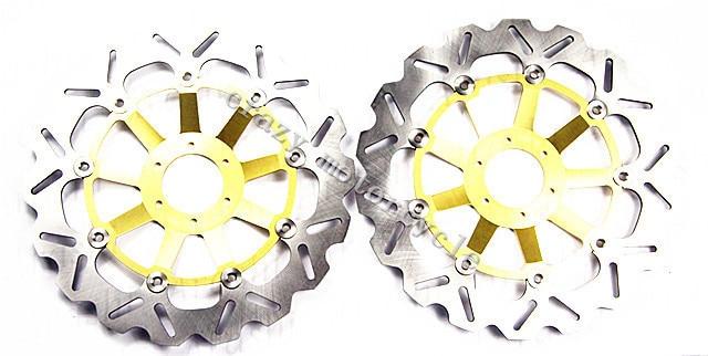 Free shipping motorcycle Brake Disc Rotor fit for Honda CBR1100XX CBR 1100XX Black bird 1997 1998 Front Gold new free shipping motorcycle red front