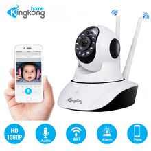 Kingkonghome 360 Home Camera IP 1080P Wifi Wireless With Two Way Audio Night Vision Surveillance Security Plug And Play PTZ Cam