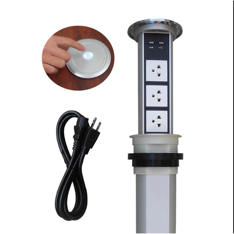 Tela sensível ao toque/elevador elétrico automático cozinha tomada tomada inteligente multifuncional carregamento USB tomada de desktop escondido TD-01
