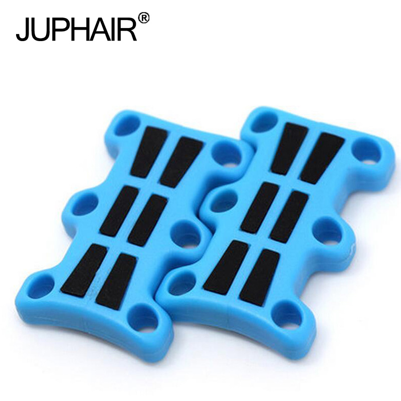 JUP1-50 Pairs Mens Blue Plus Black Silicone Magnetic Shoes Buckles Decorative Buckles No Tie Shoelaces Sneaker Luminous Magnetic