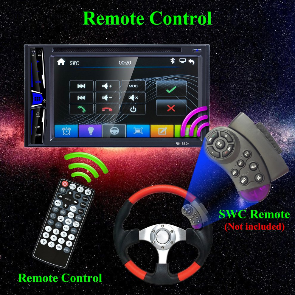 6.2 Car DVD Player Radio Stereo with remote control Support MP3/FM/DVD/VCD6.2 Car DVD Player Radio Stereo with remote control Support MP3/FM/DVD/VCD