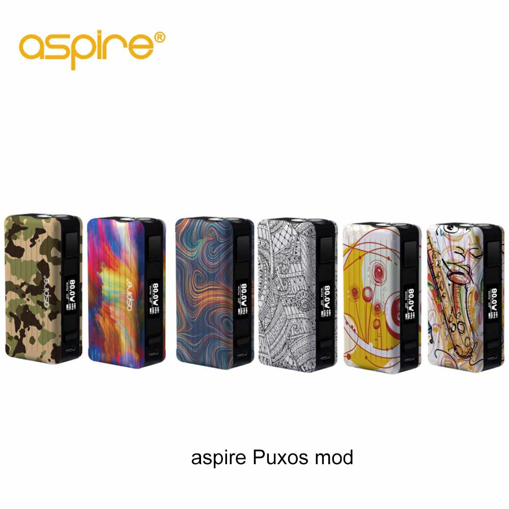2018 date aspire mod Original Aspire Puxos mod soutien 21700/20700/18650 Batterie Vaporizador E boîte à cigarettes mod