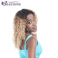 BEAUDIVA пользовательские парики, кружева вьющиеся Ombre Цвет вьющиеся естественно волосяного покрова бразильский non реми Синтетические волосы н