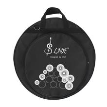 High Quality 21-Inch Three Pockets Cymbal Bag Backpack with Removable Divider Shoulder Strap(China)