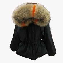 Корейские цветные зимние пальто с воротником из натурального меха для женщин, парки mujer, Модные свободные зимние женские куртки с рукавом летучая мышь