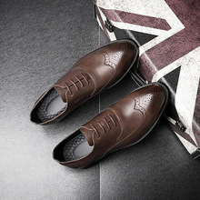 Brand Formal Dress Men Shoes  Genuine Leather Business Classic Office Wedding Mens Casual Oxford Italian Shoes For Men