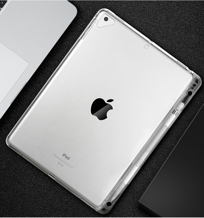 Ultra-Thin Transparent Silicon TPU Soft Back Case For Apple Ipad Pro 10.5 With Pencil Holder Cover For Ipad Pro 10.5 A1701 A1709