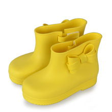 2017 New Mini Melissa Children'S Rain Boots Solid Color Fashion Shoes Slip Waterproof Mini Melissa Girl Rain Boots High Quality
