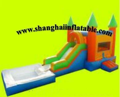 high quality inflatble pool and slide combo