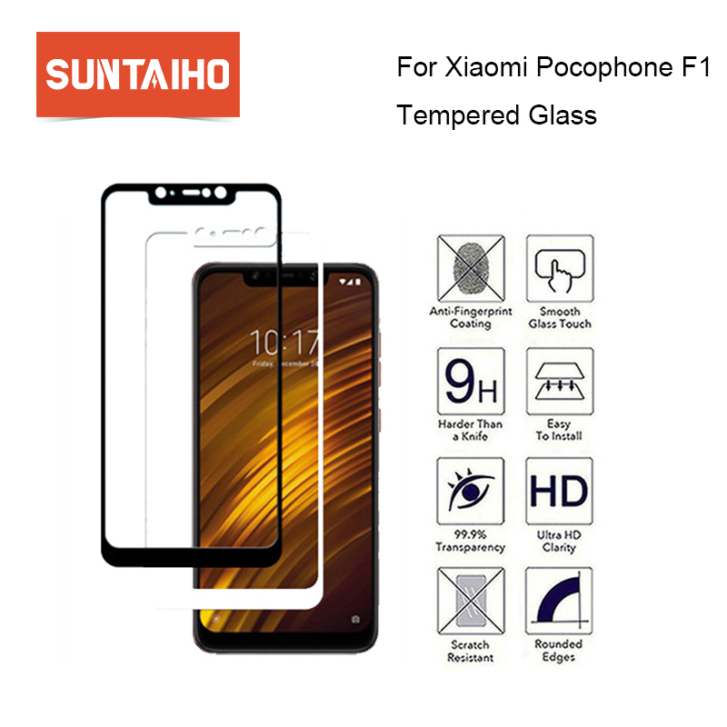 Suntaiho Full Cove Screen Protector Glass for Xiaomi Pocophone F1 High Quality Explosion-proof Tempered Glass For Xiaomi Poco F1