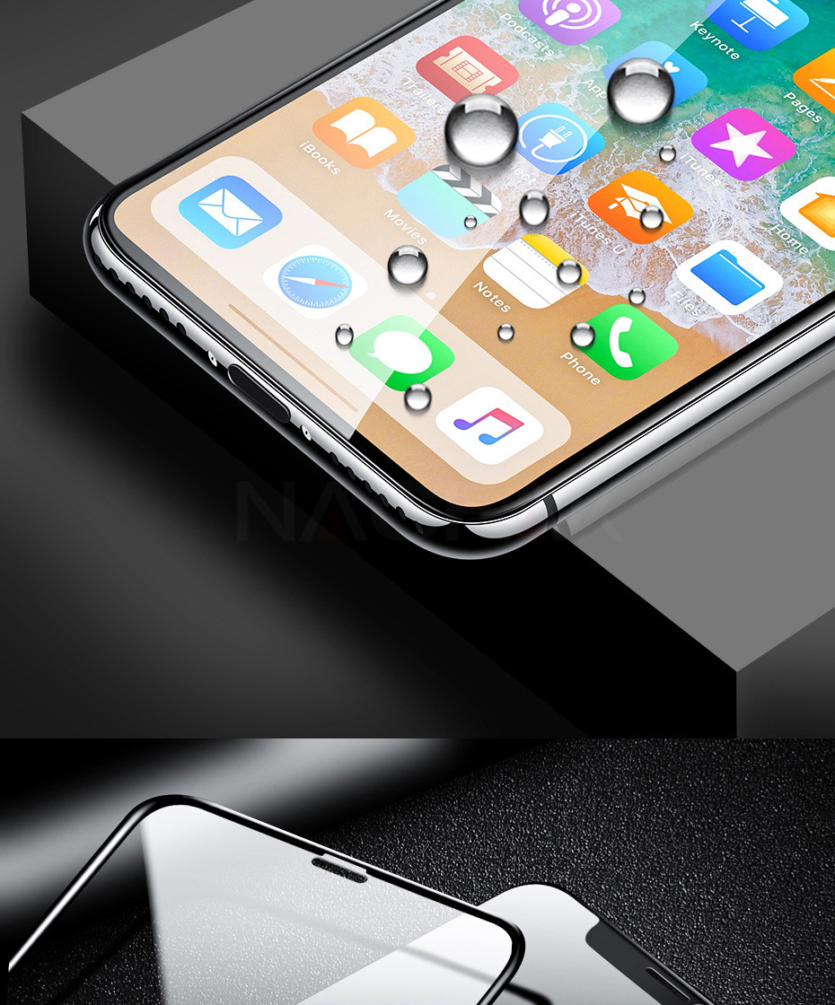 100D Curved Edge Full Cover Protective Glass On The For iPhone 7 8 6 6S Plus Tempered Screen Protector iPhone X XR XS Max Glass 14