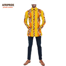 ФОТО 2018 autumn mens shirt AFRIPRIDE private custom full sleeve single breasted casual cotton shirt for men 100 wax cotton A731205
